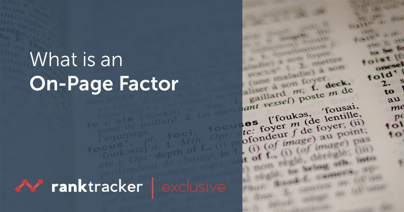 What is an On-Page Factor